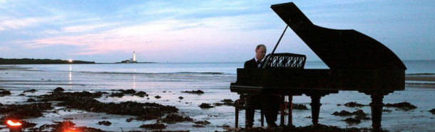 'The Piano' on the beach at Whitley Bay